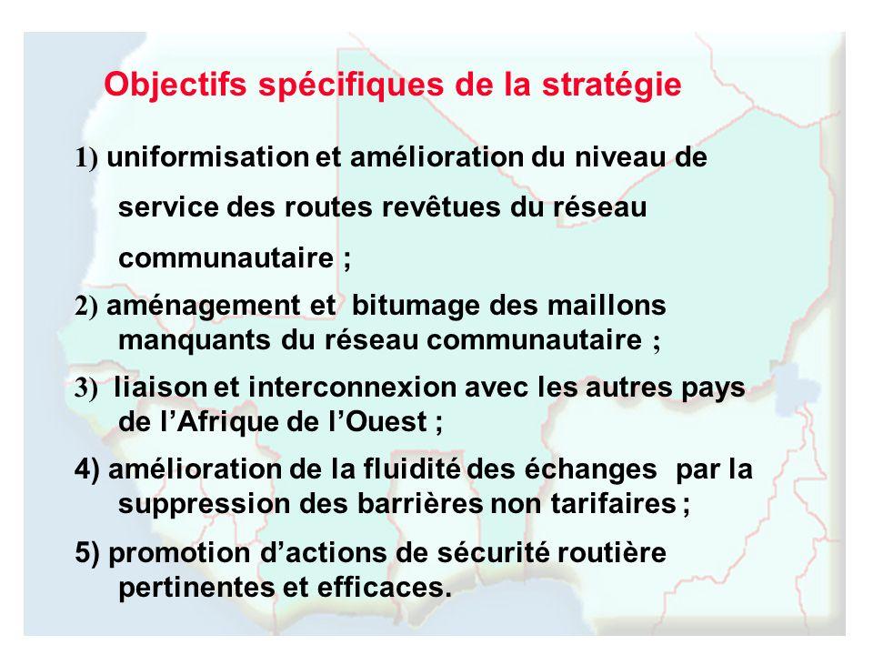 Objectifs spécifiques de la stratégie