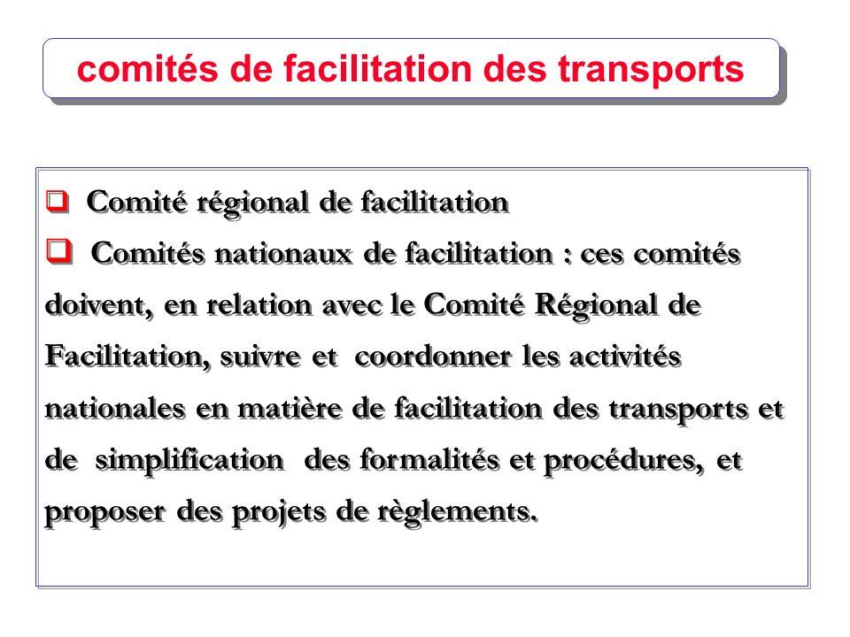 comités de facilitation des transports