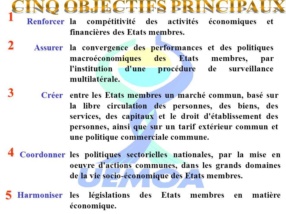 CINQ OBJECTIFS PRINCIPAUX