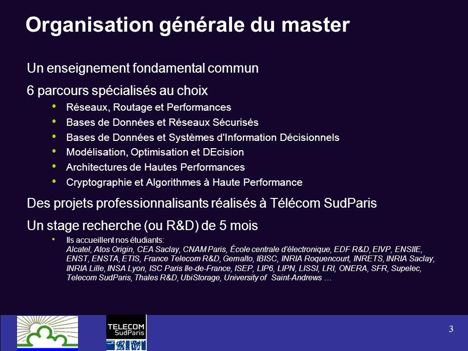Organisation générale du master