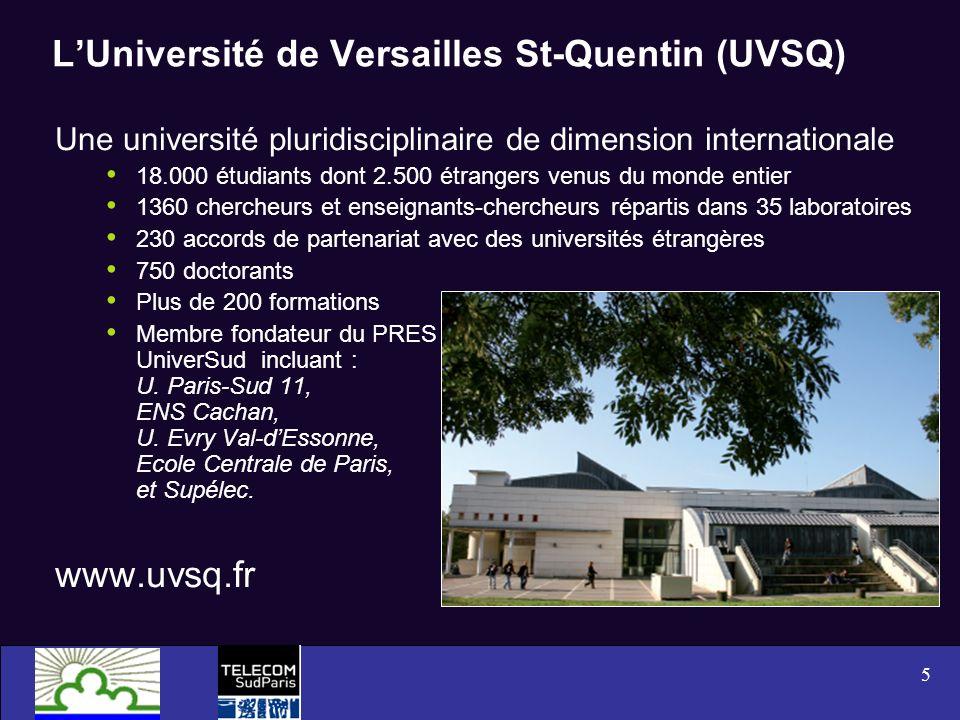L'Université de Versailles St-Quentin (UVSQ)