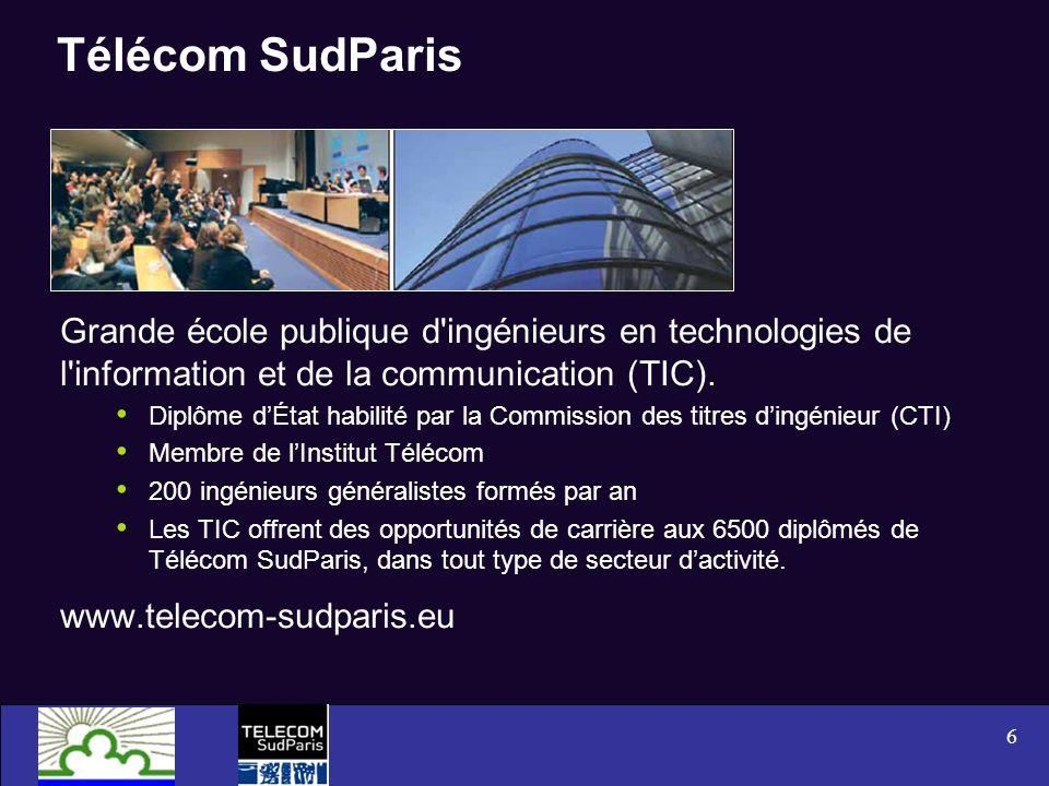 Télécom SudParis Grande école publique d ingénieurs en technologies de l information et de la communication (TIC).
