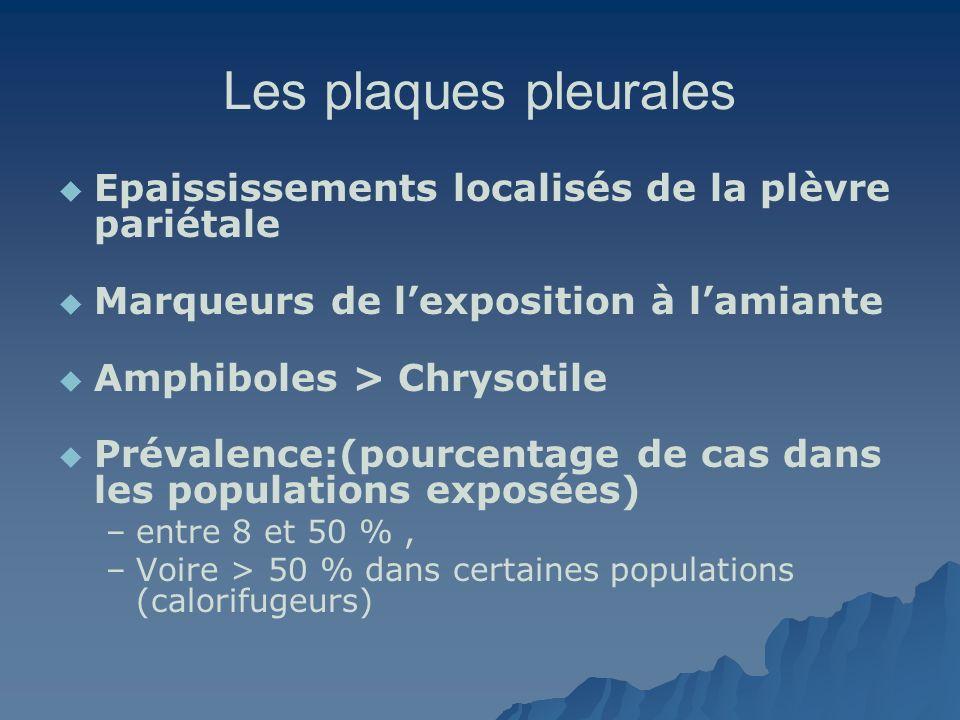 Les plaques pleurales Epaississements localisés de la plèvre pariétale