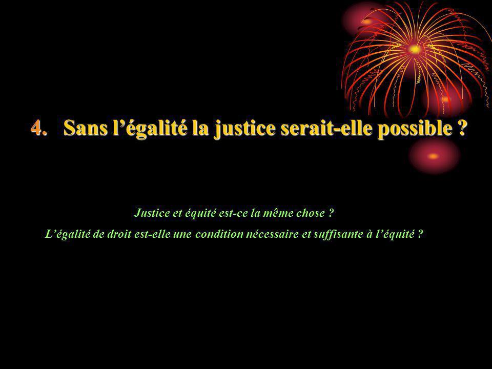 Justice et équité est-ce la même chose