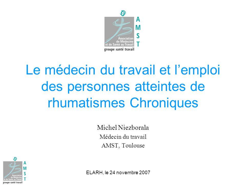 Michel Niezborala Médecin du travail AMST, Toulouse