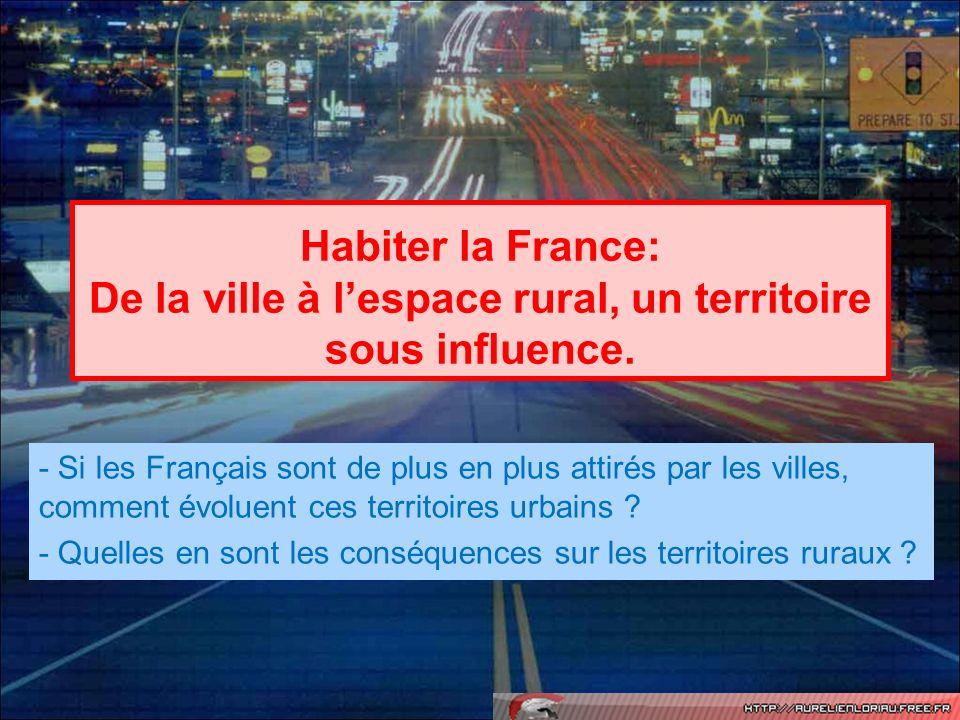 Habiter la France: De la ville à l'espace rural, un territoire sous influence.