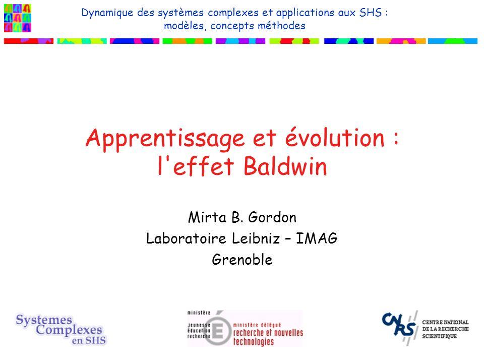 Apprentissage et évolution : l effet Baldwin