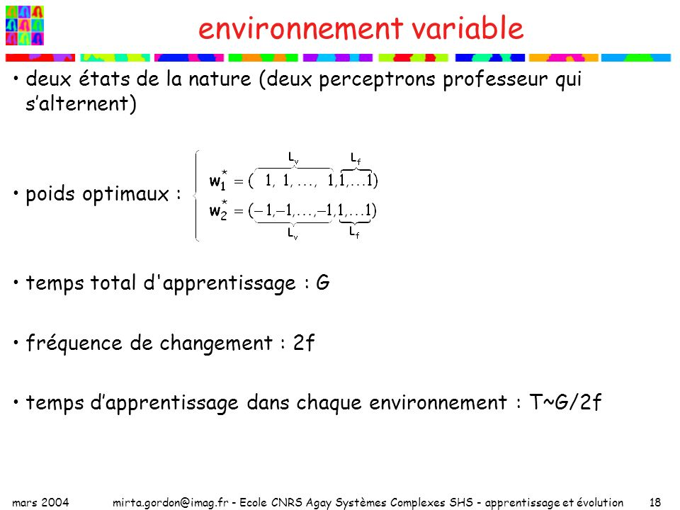environnement variable