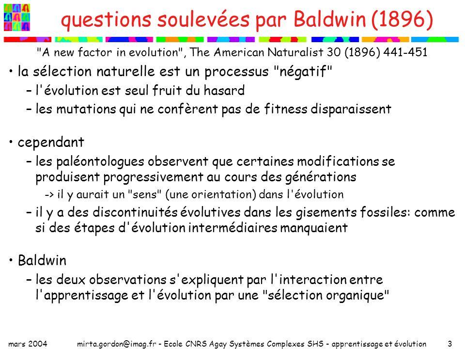 questions soulevées par Baldwin (1896)
