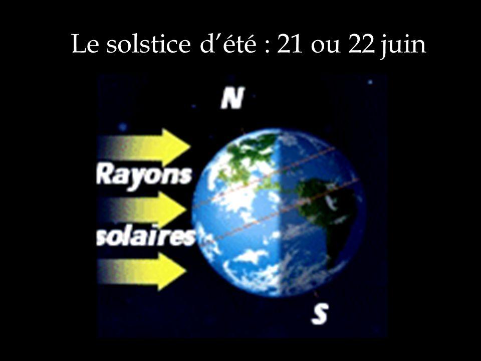 Le solstice d'été : 21 ou 22 juin