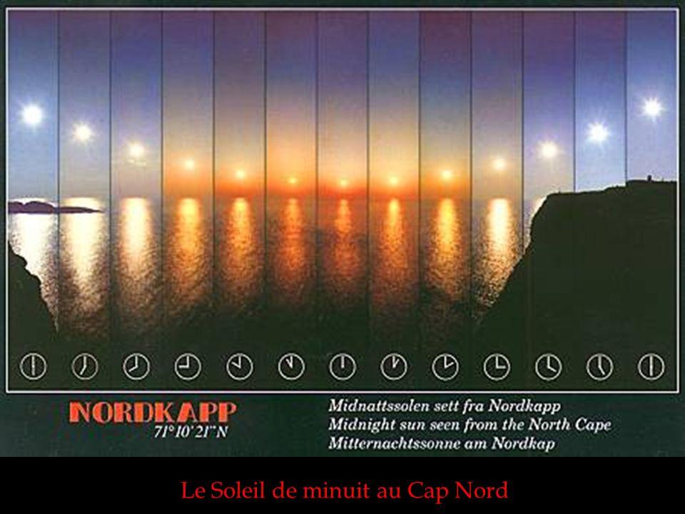 Le Soleil de minuit au Cap Nord