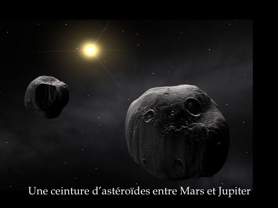 Une ceinture d'astéroïdes entre Mars et Jupiter
