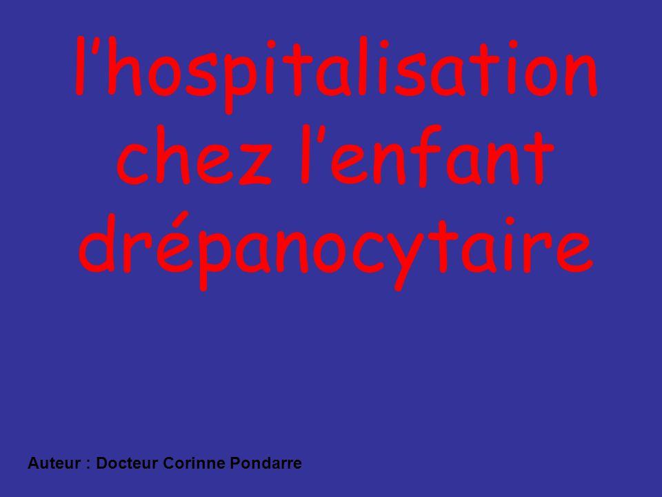 l'hospitalisation chez l'enfant drépanocytaire