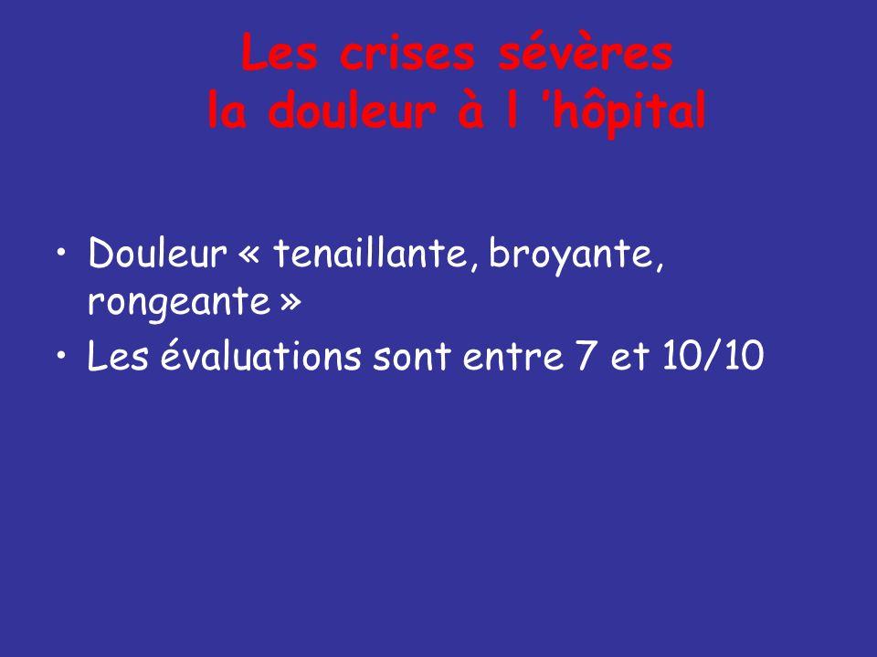 Les crises sévères la douleur à l 'hôpital