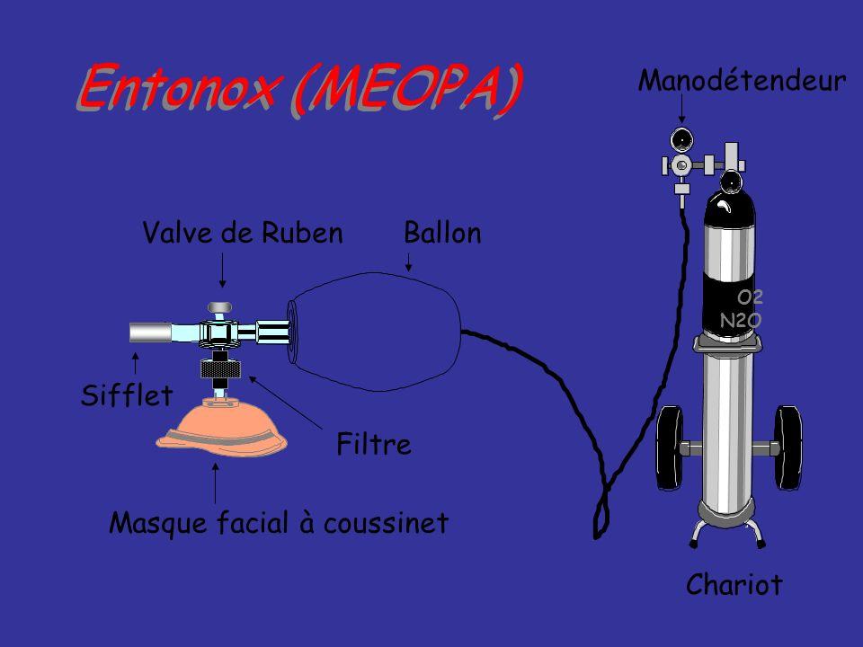Entonox (MEOPA) Manodétendeur Valve de Ruben Ballon Sifflet Filtre