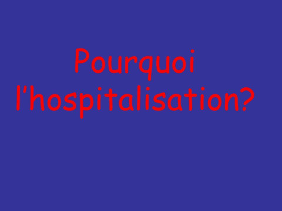Pourquoi l'hospitalisation