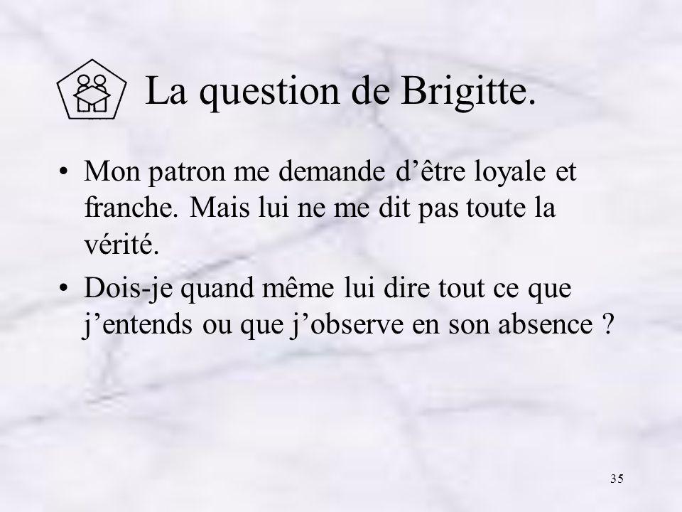 La question de Brigitte.