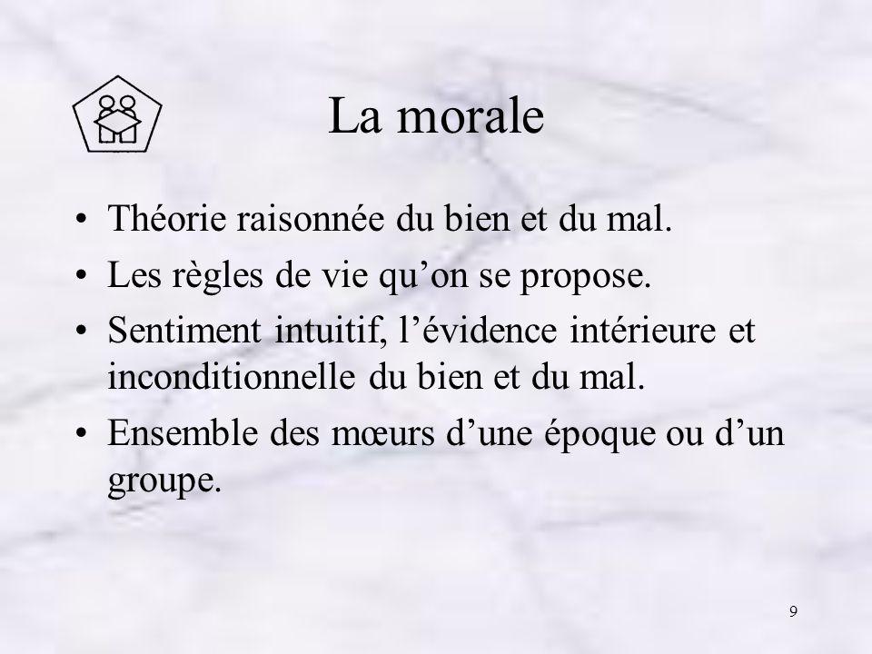 La morale Théorie raisonnée du bien et du mal.