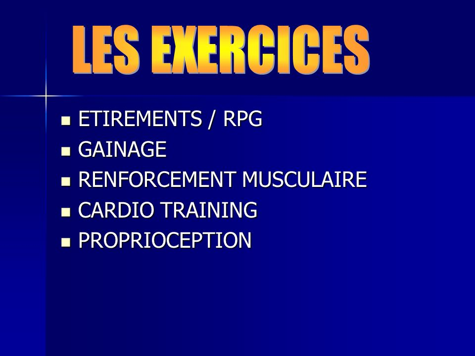 LES EXERCICES ETIREMENTS / RPG GAINAGE RENFORCEMENT MUSCULAIRE
