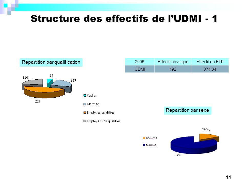 Structure des effectifs de l'UDMI - 1