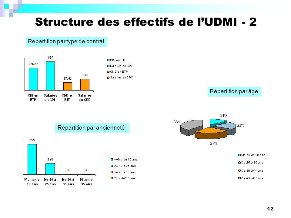 Structure des effectifs de l'UDMI - 2