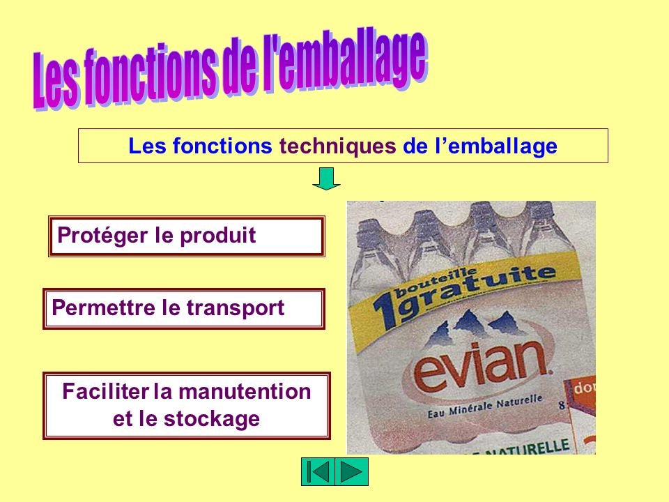 les fonctions de l'emballage et du conditionnement