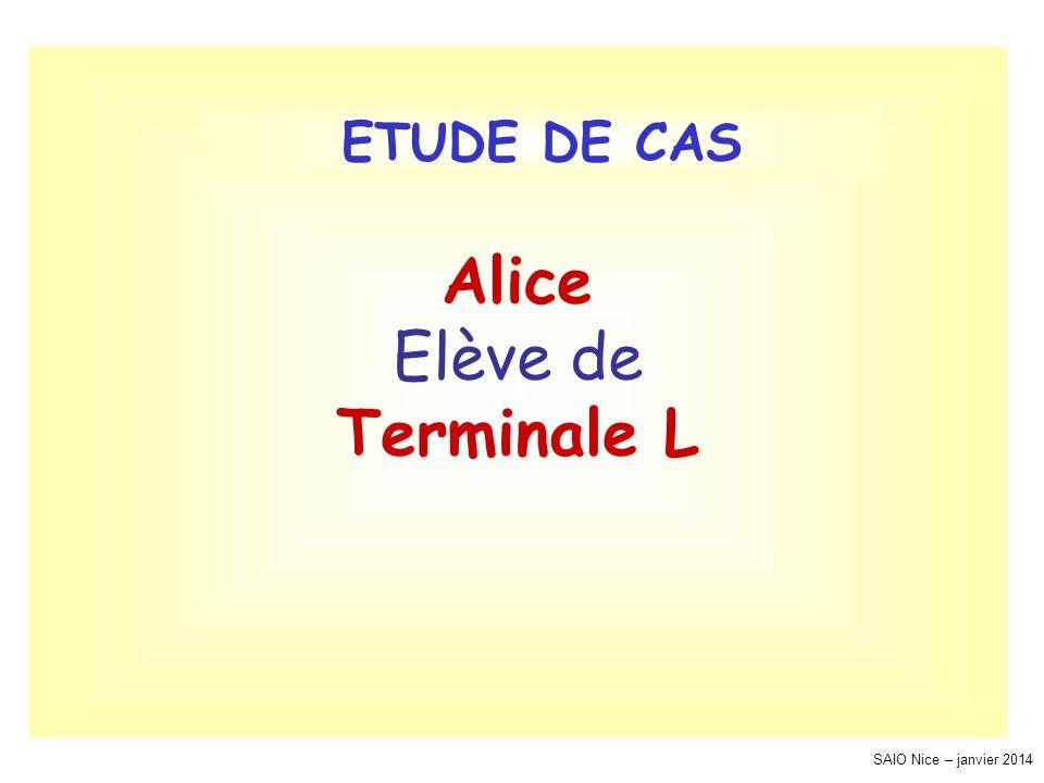 Alice Elève de Terminale L