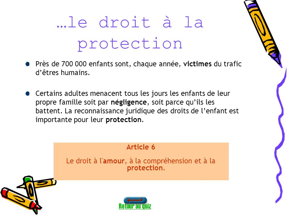 …le droit à la protection