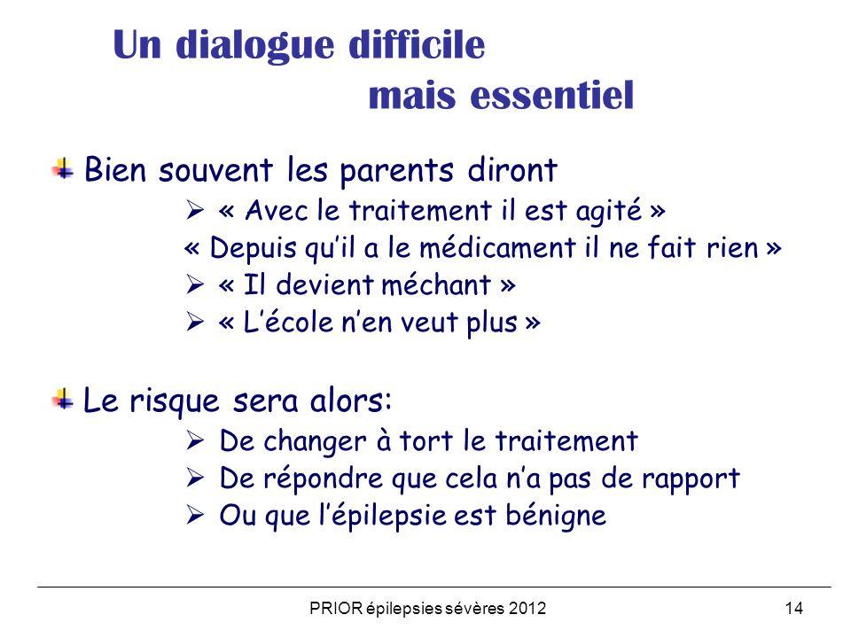 PRIOR épilepsies sévères 2012