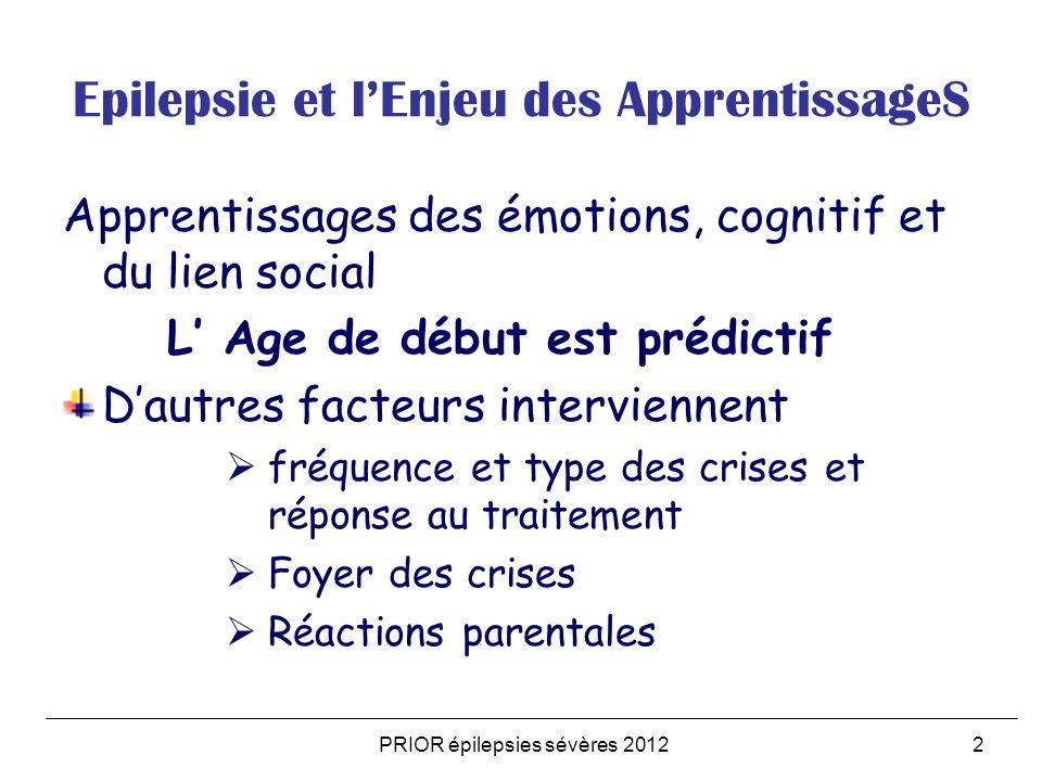 Epilepsie et l'Enjeu des ApprentissageS