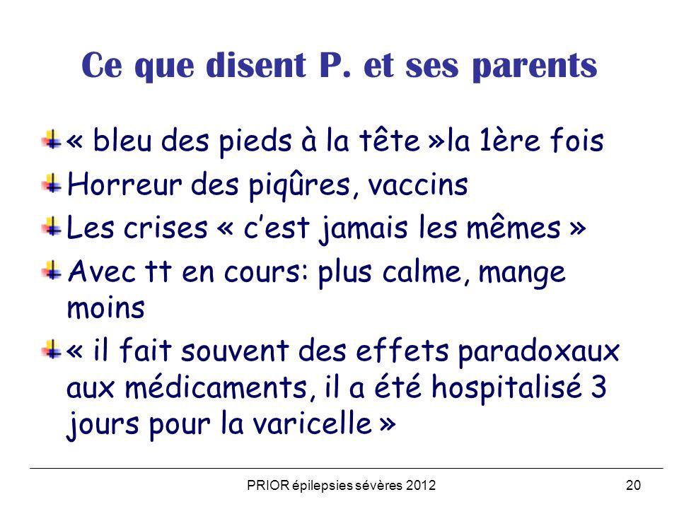 Ce que disent P. et ses parents