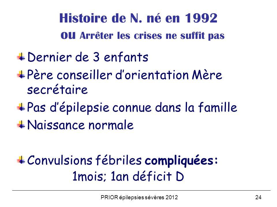 Histoire de N. né en 1992 ou Arrêter les crises ne suffit pas