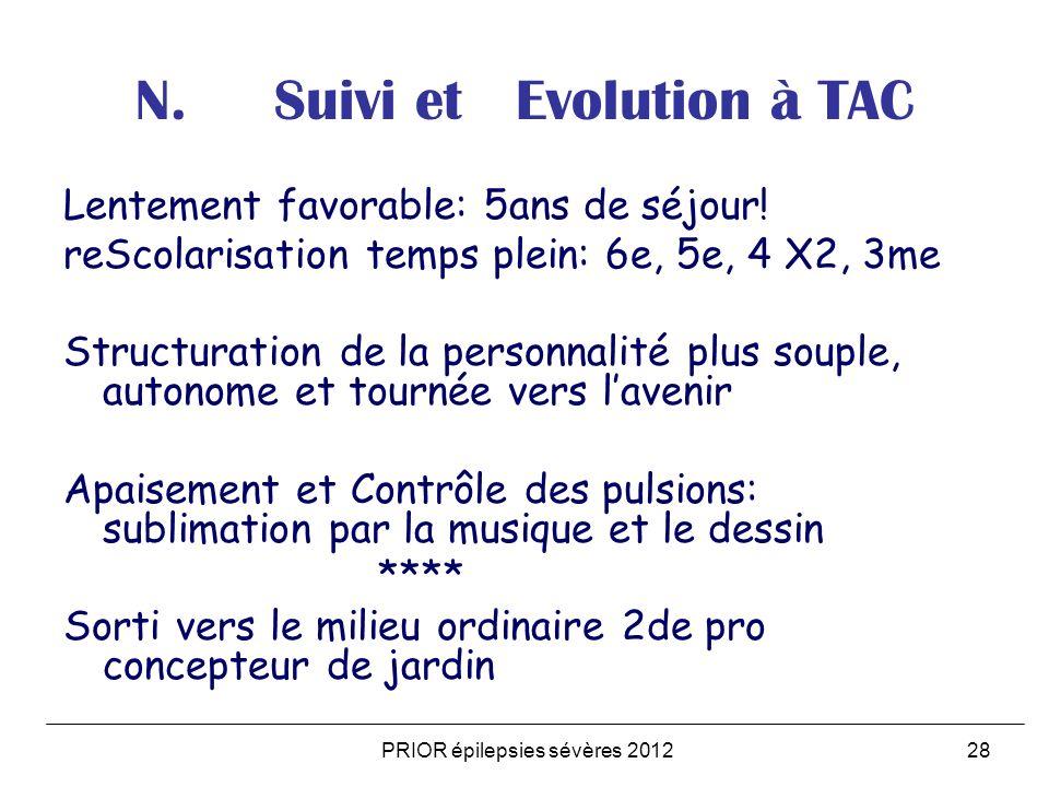 N. Suivi et Evolution à TAC