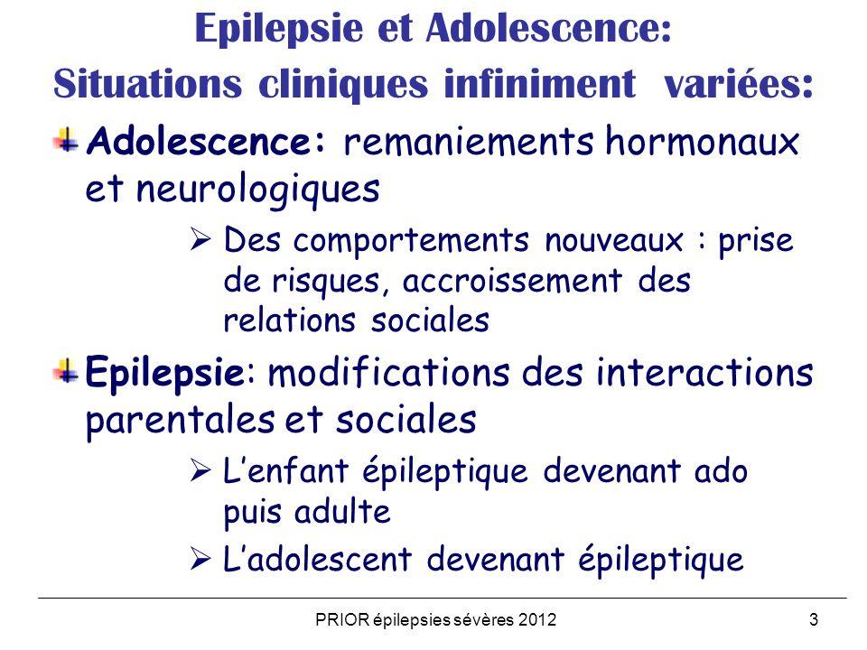 Epilepsie et Adolescence: Situations cliniques infiniment variées: