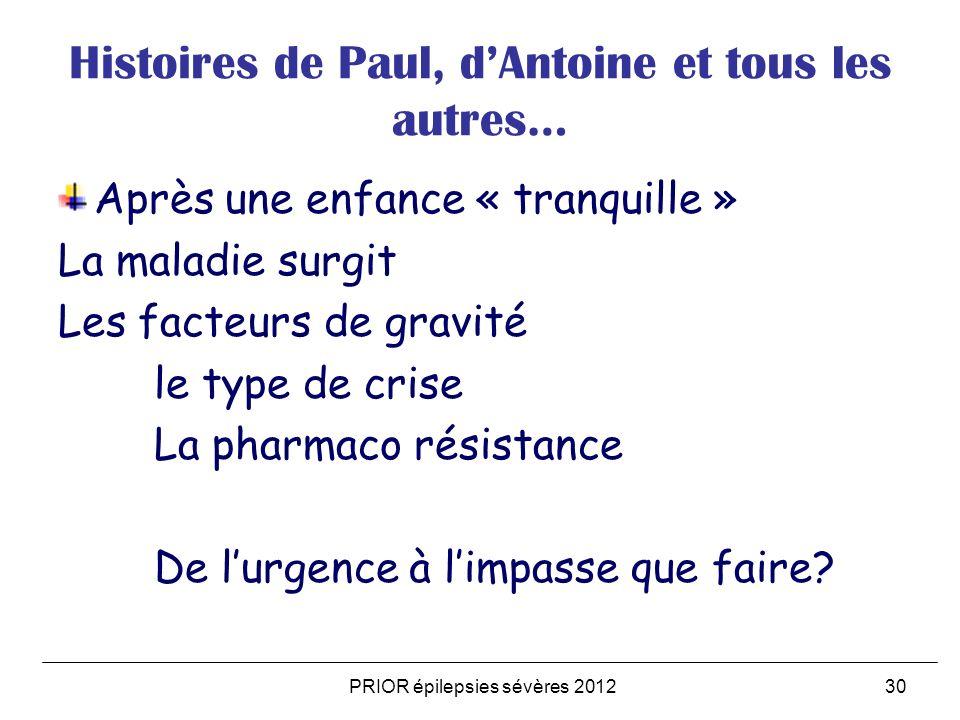 Histoires de Paul, d'Antoine et tous les autres…