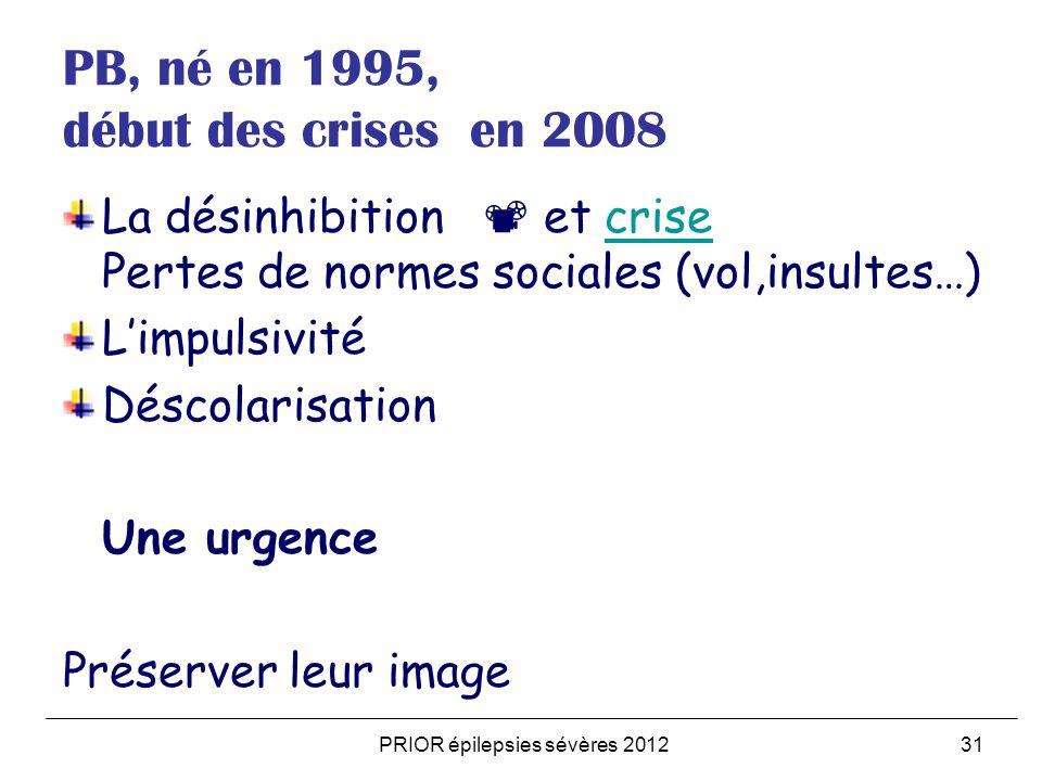 PB, né en 1995, début des crises en 2008