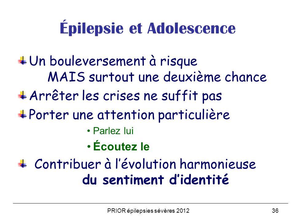 Épilepsie et Adolescence