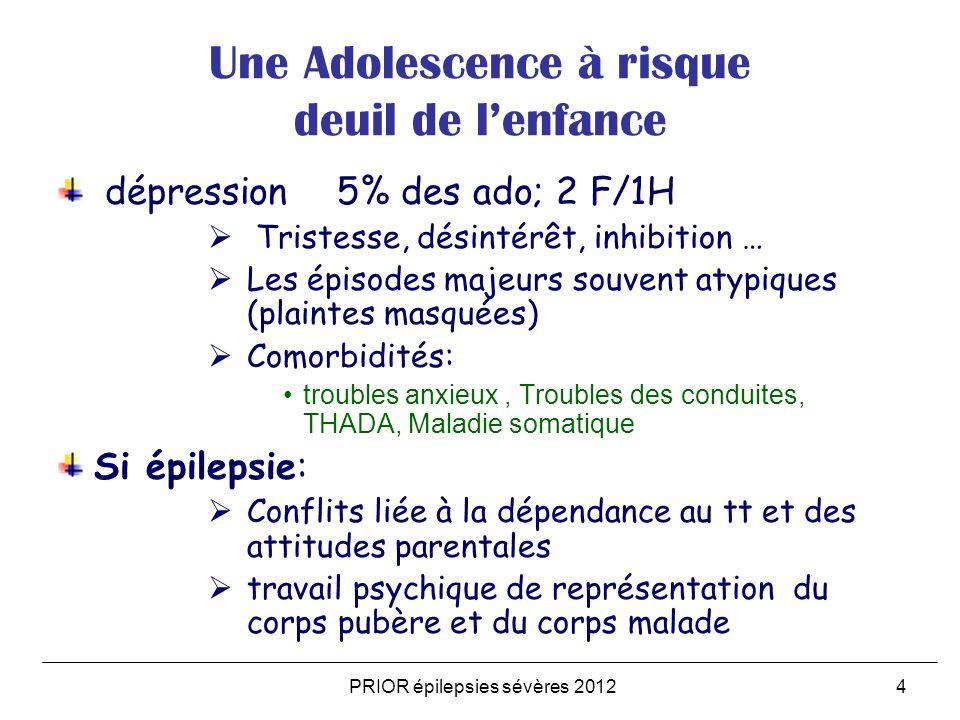 Une Adolescence à risque deuil de l'enfance