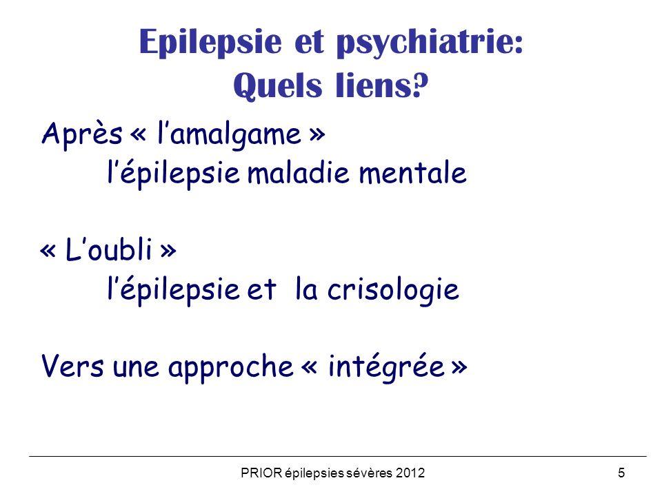 Epilepsie et psychiatrie: Quels liens