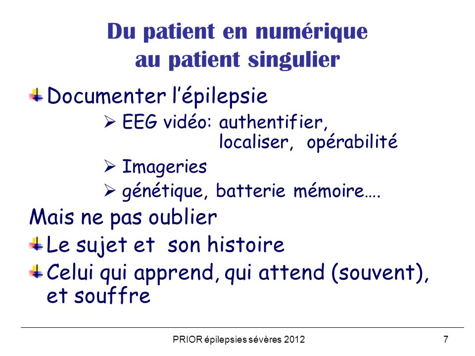 Du patient en numérique au patient singulier