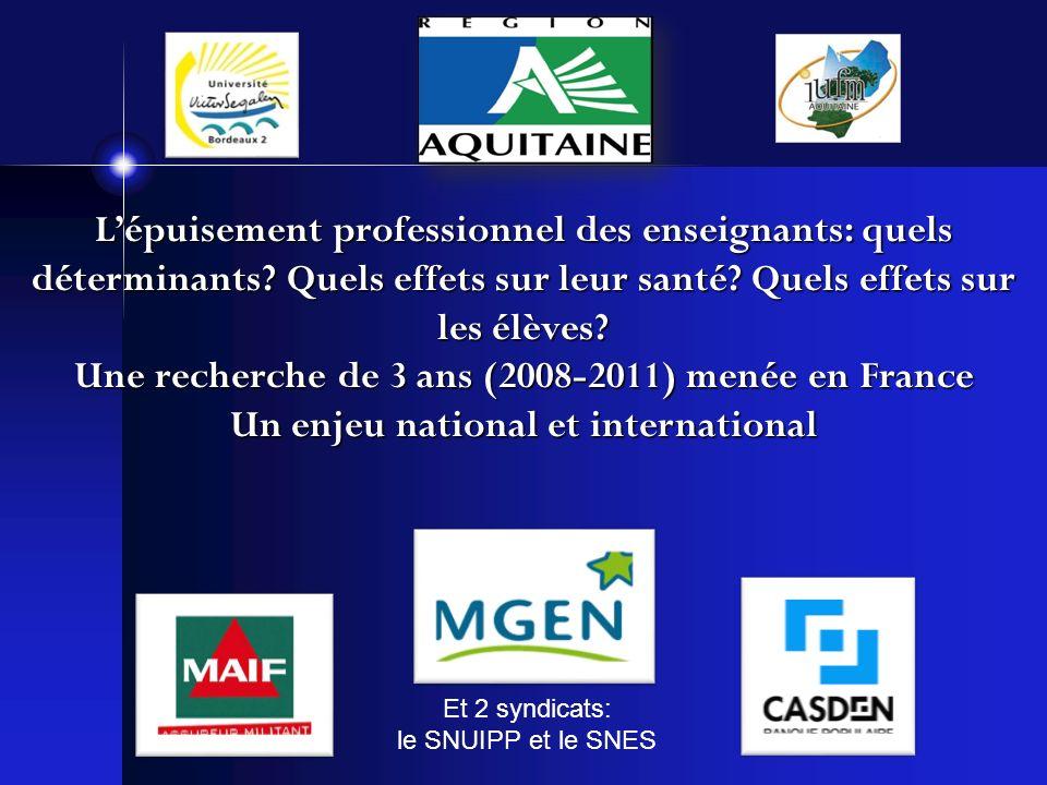 Une recherche de 3 ans (2008-2011) menée en France