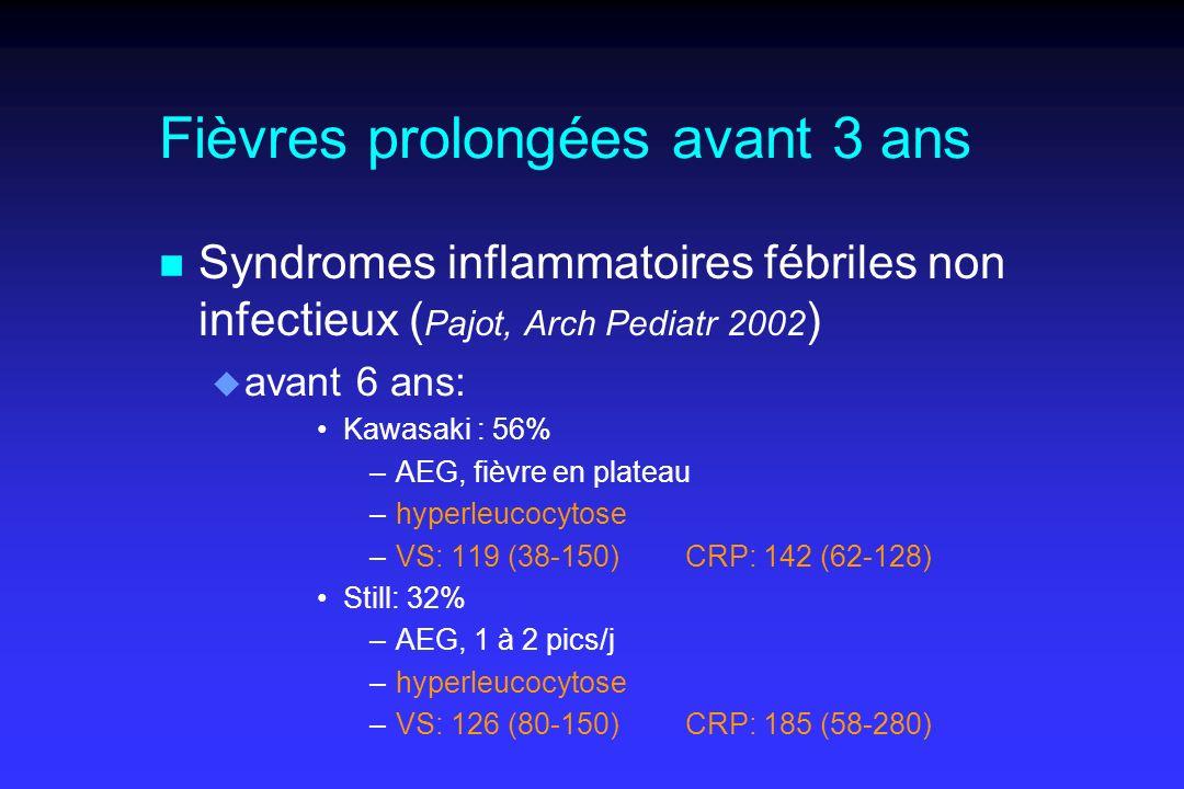 Fièvres prolongées avant 3 ans