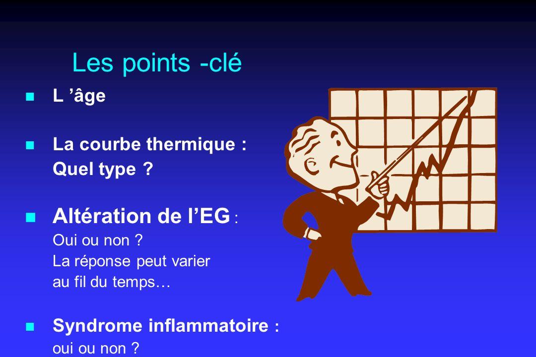 Les points -clé Altération de l'EG : L 'âge La courbe thermique :