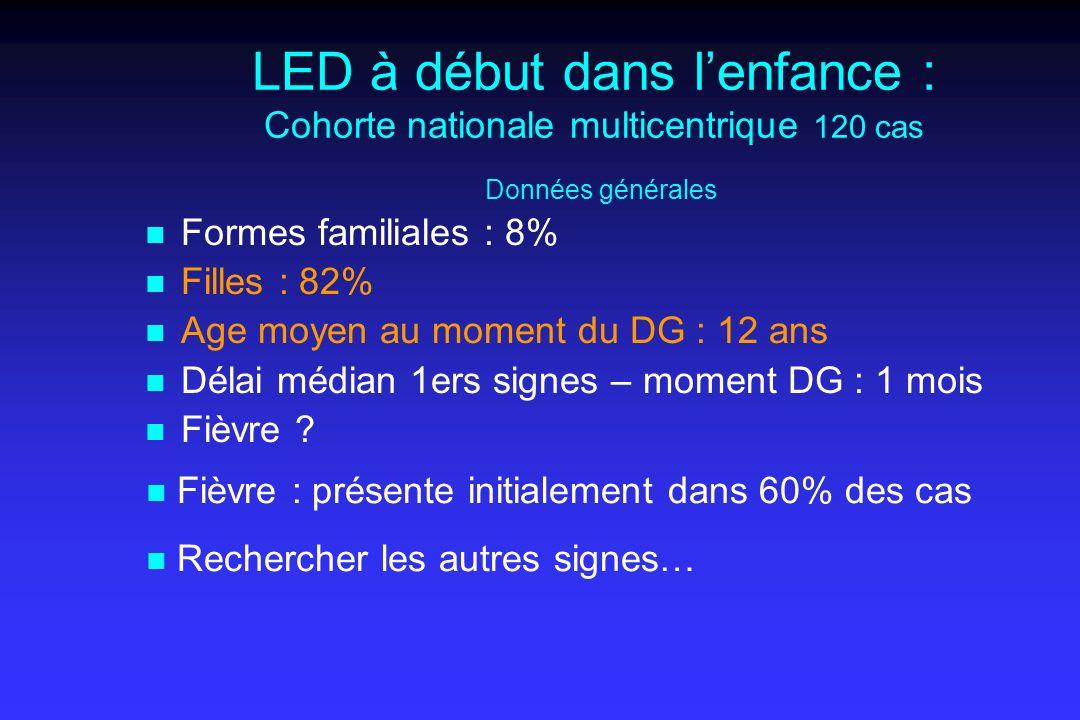 LED à début dans l'enfance : Cohorte nationale multicentrique 120 cas Données générales