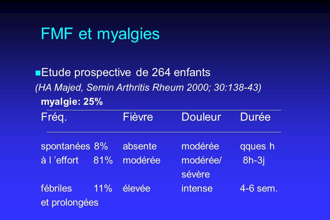 FMF et myalgies Etude prospective de 264 enfants