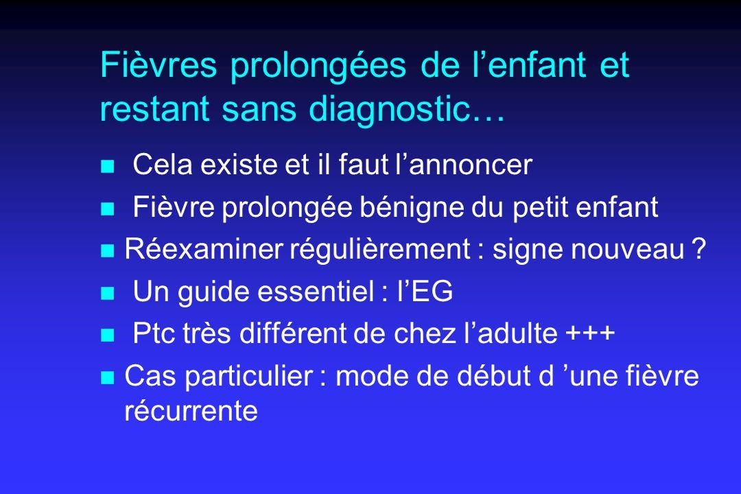 Fièvres prolongées de l'enfant et restant sans diagnostic…