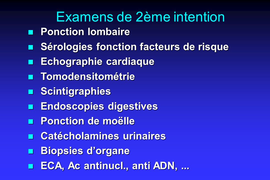 Examens de 2ème intention