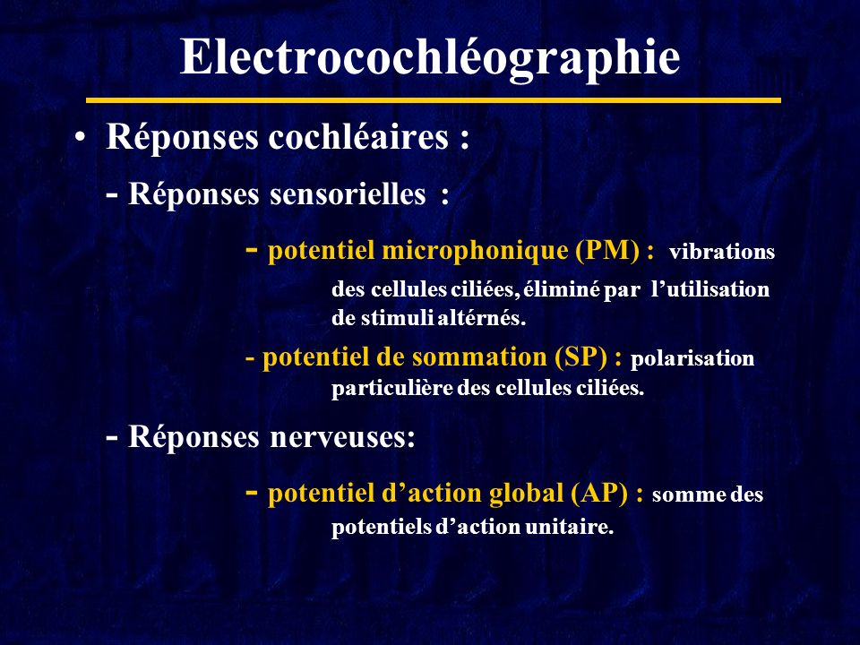 Electrocochléographie