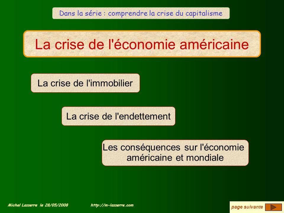 La crise de l économie américaine