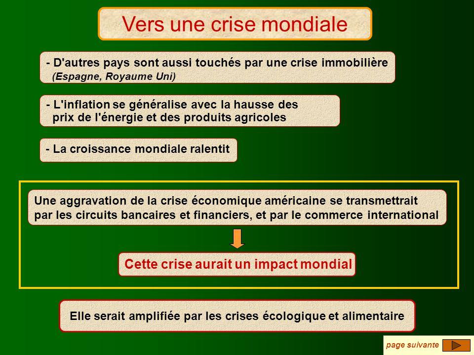 Vers une crise mondiale